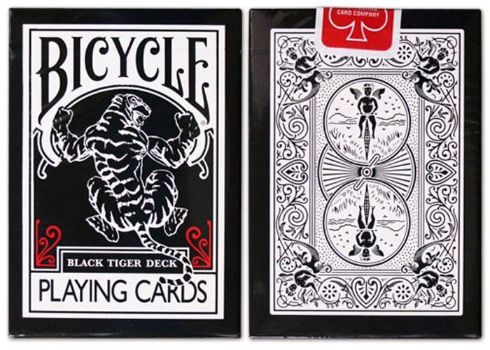 블랙타이거덱_레드(Bicycle Black Tiger Deck_Red Pip)