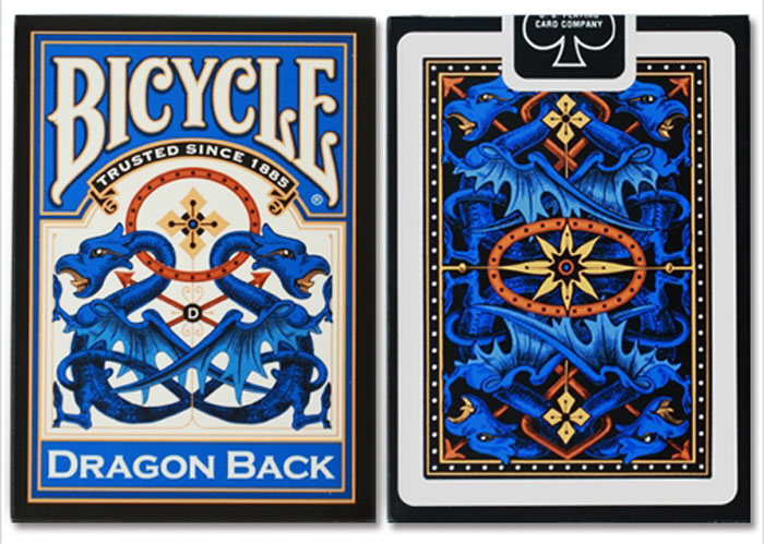 드래곤백덱_블루(Bicyle Dregon Back Cards_Blue) by USPCC