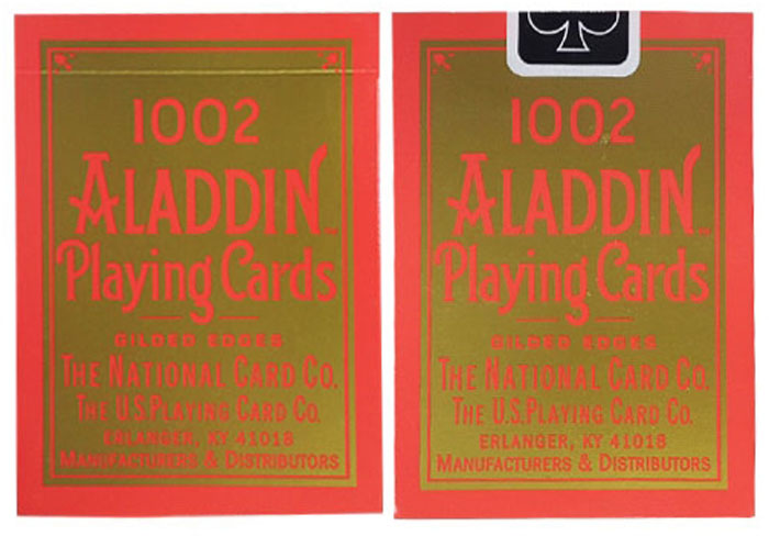 알라딘골드리프페더백_레드(Aladdin Playing Cards, std Gold Leaf Featherback - Red)